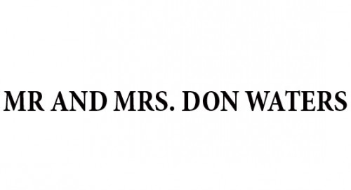 Regent and Mrs. Don Waters